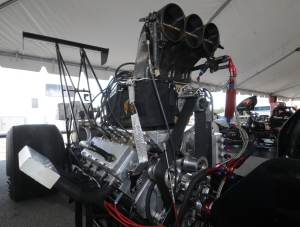 Jeff Kauffman blown rear engine dragster engine
